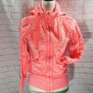 Zella Neon Pink Hooded Zip Up Sweatshirt